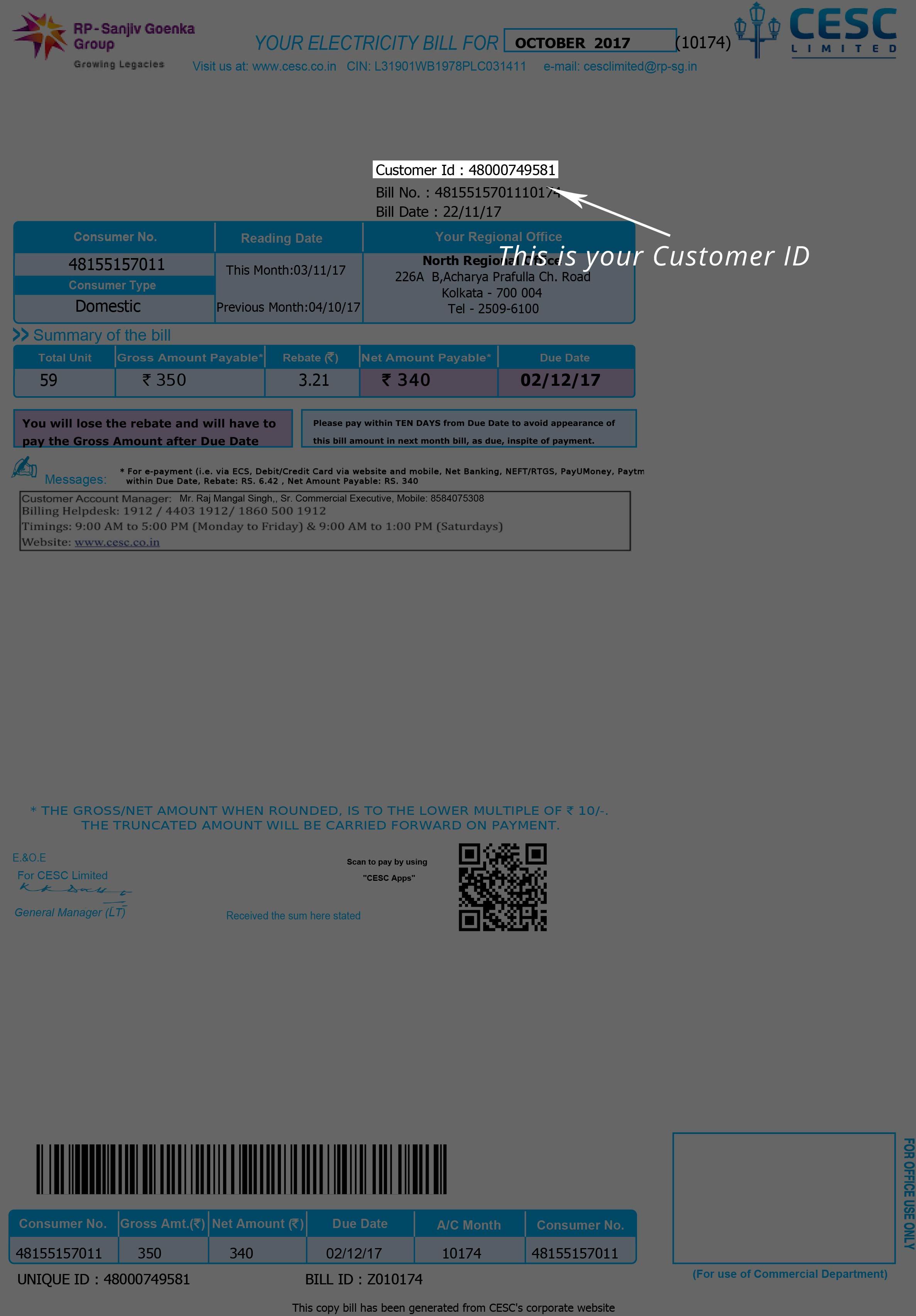 Cesc West Bengal Make Cesc Bill Payment Online At Paytm